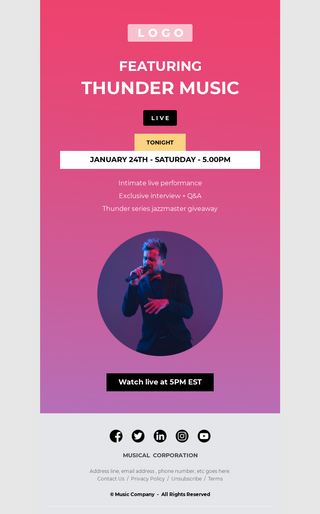 Music Concert Email Template