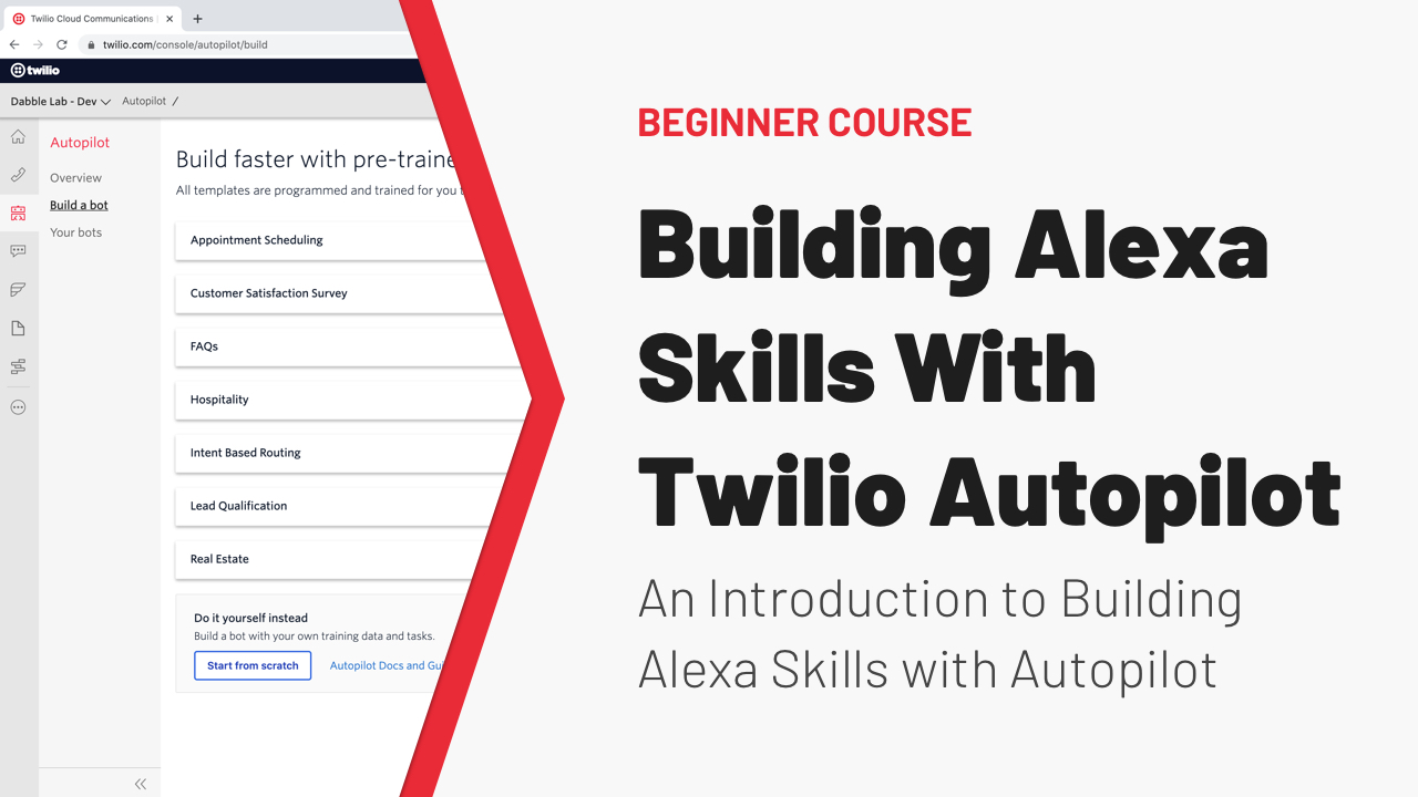 Building Alexa Skills with Twilio Autopilot