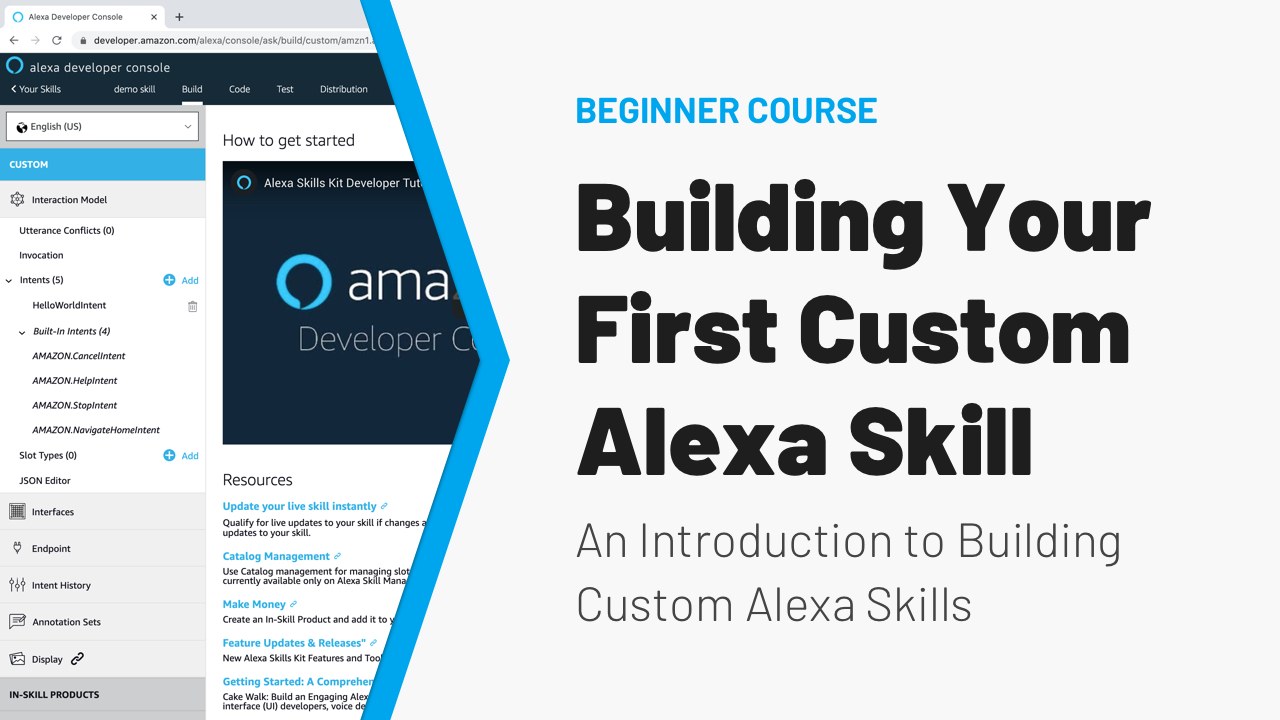 Building Your First Alexa Skill