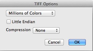 MPEG Streamclip Tiff Options