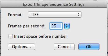 MPEG Streamclip ImageSeq