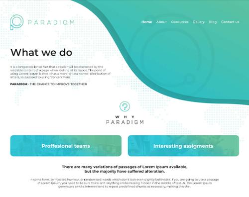 Paradigm Website