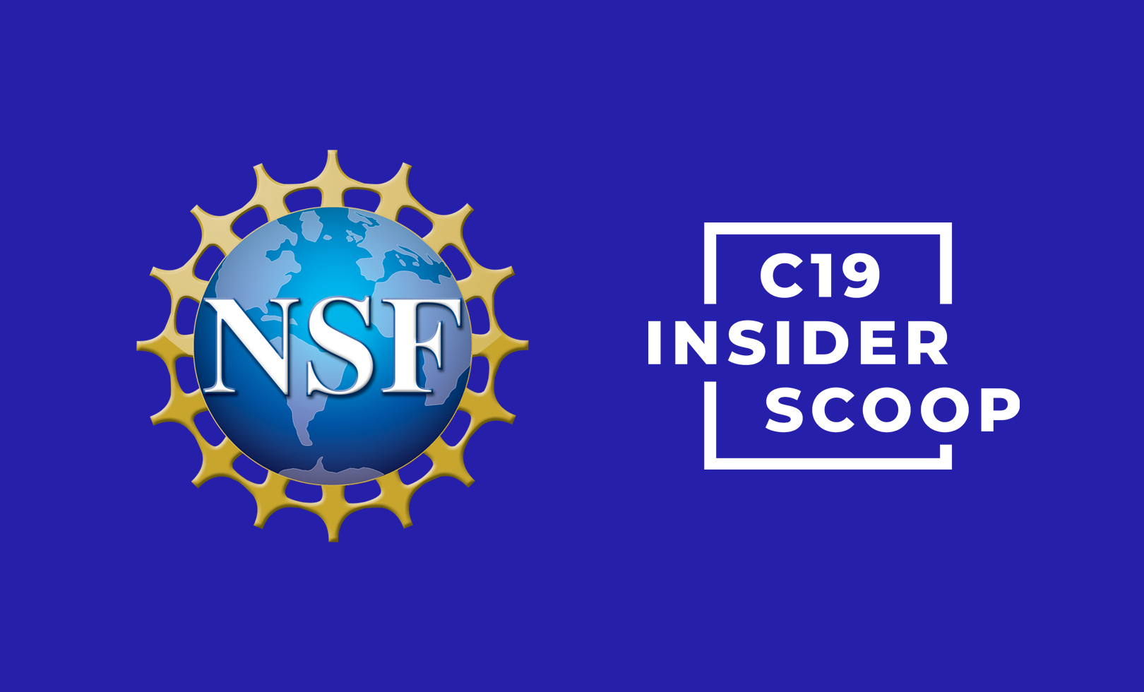 Left: NSF logo, Right: C19 Insider Scoop Logo