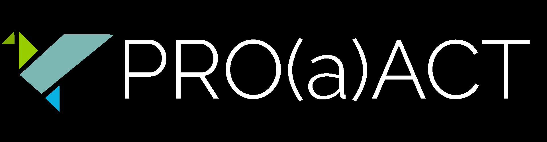 PRO(a)ACT logo white