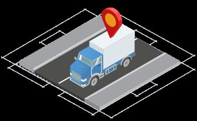 isometrico camion antena carretera