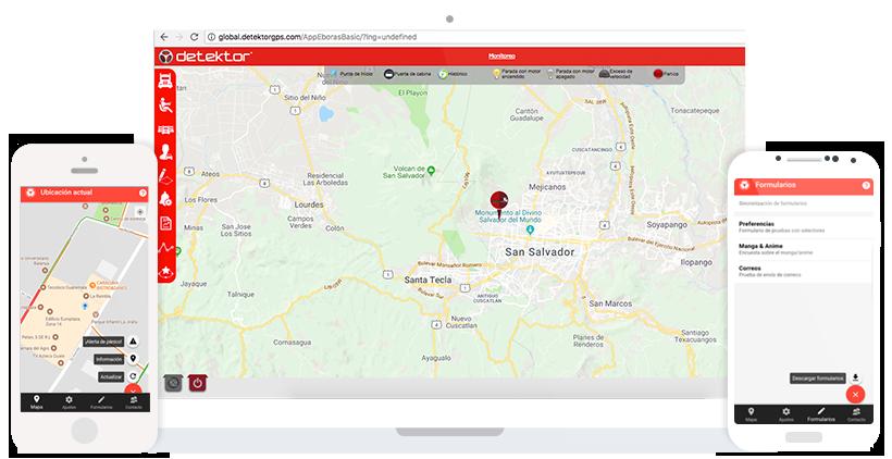 Imagen celulares, tableta con mapas