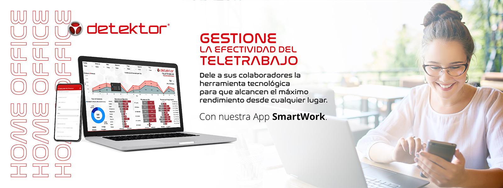 Con Detektor SmartWork gestione el teletrabajo