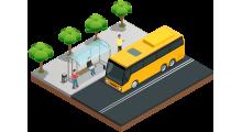 isometrico bus paradero