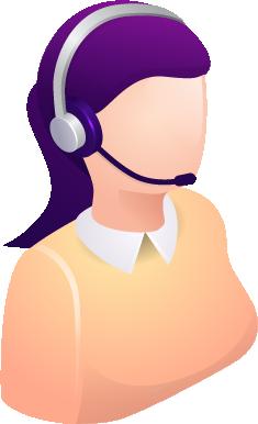 isometrico mujer call center