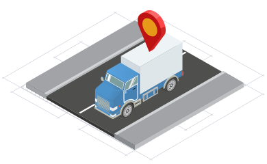 isometrico camion carretera