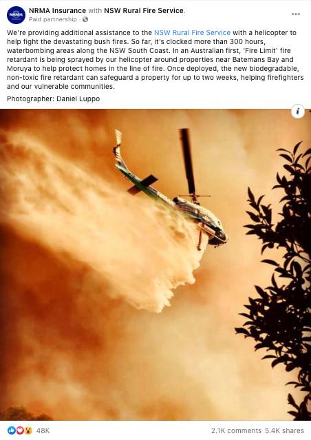 NRMA facebook post