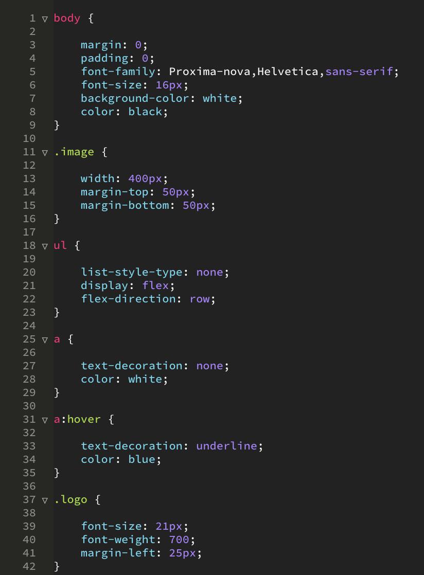 css voorbeeld code