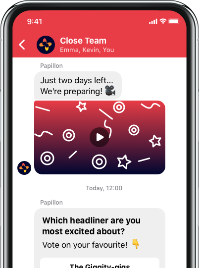 the close app chat messaging mobile