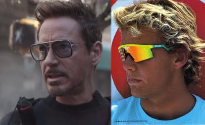 Tony Stark AR Glasses compared to Oakleys