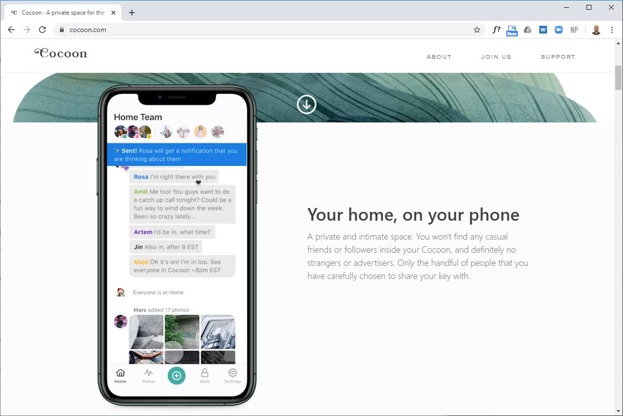 Screenshot of cocoon.com