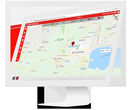 Imagen computador mac con mapa