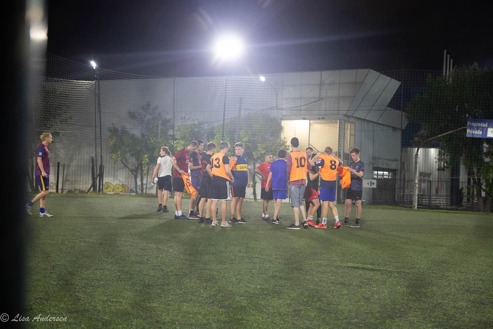 Løkkefotball på kvelden