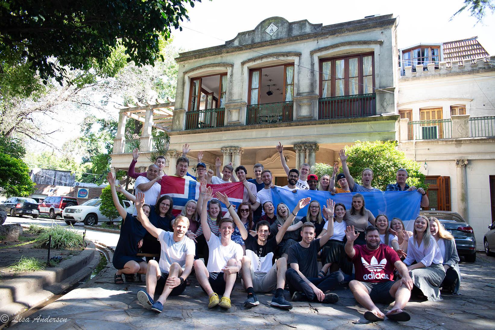 Klassebilde på bibelskolen i Argentina