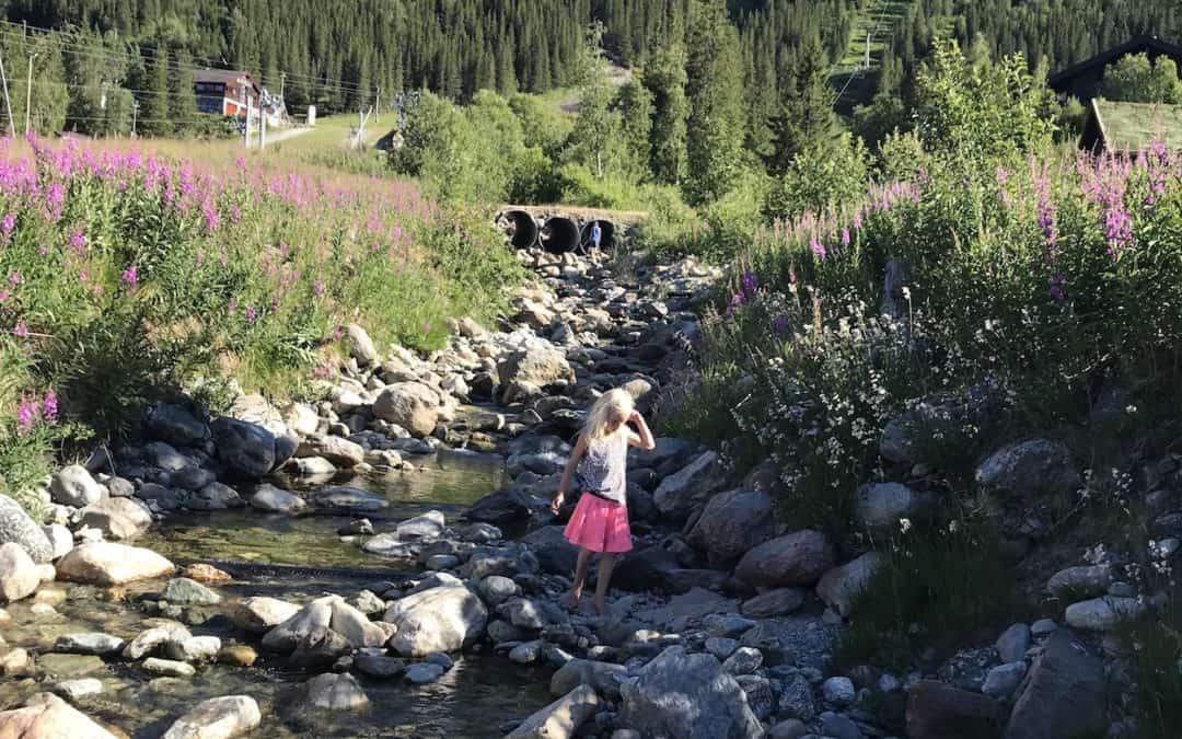 Familie auf Weltreise Norwegen Hemsedal