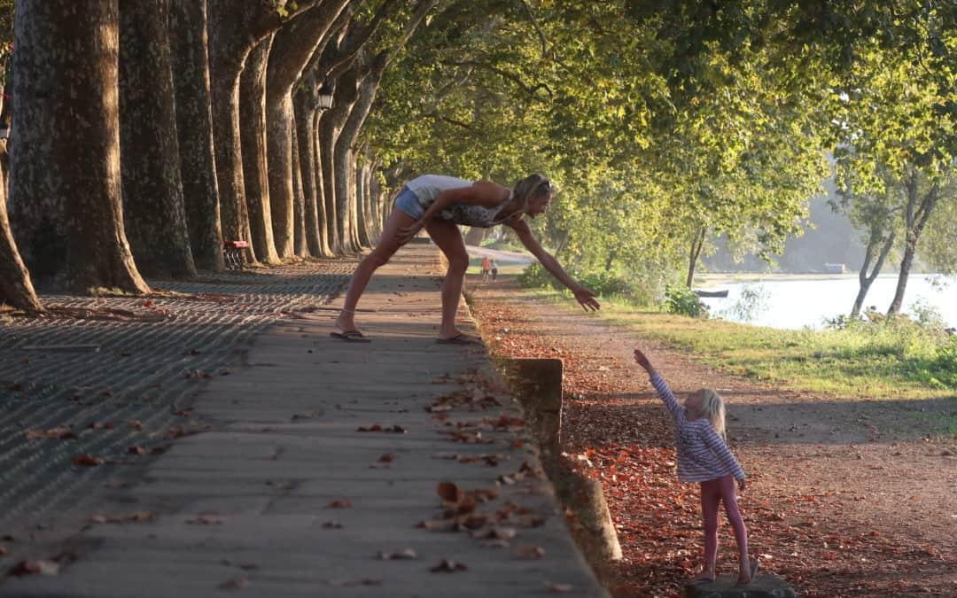 Familie auf Weltreise Portugal Ponte de Lima