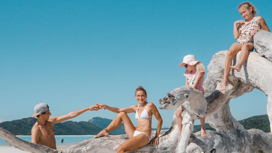Familie auf Weltreise Die Leichsenring Australien Segeln Whitsunday Island