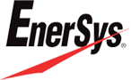 A logo of the company EnerSys.