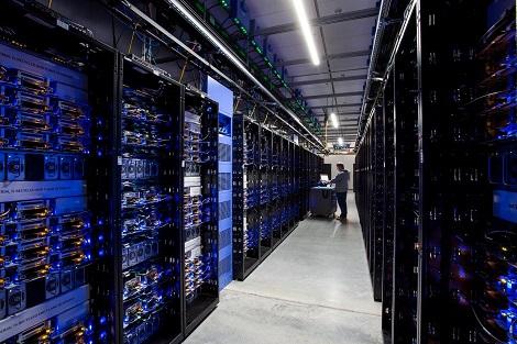 An image of a data center.