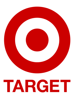 The logo of the company Target.