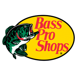 The logo of the company Bass Pro Shops.