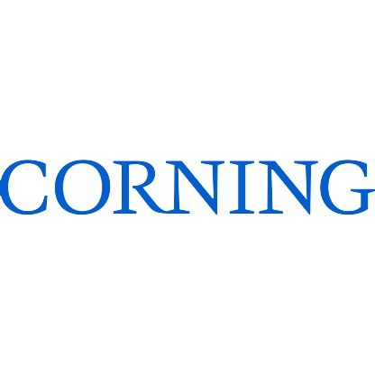 The logo for the company Corning.