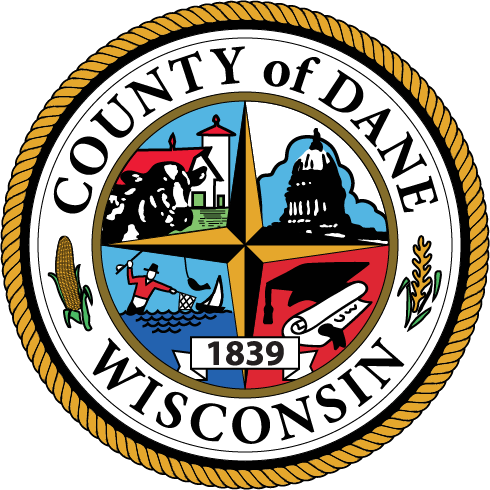 Logo of the seal of County of Dane Wisconsin.