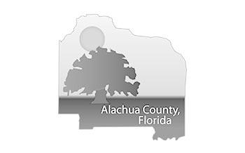 Logo of the seal for Alachua County, Florida.