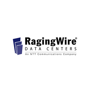 The logo for the company RagingWire Data Centers.