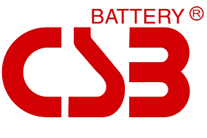 A logo of CSB Battery, a leading Valve Regulated Lead-Acid (VLRA) batteries factory/company.