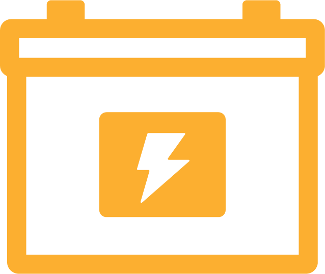 An icon created by one of our team members of a battery.