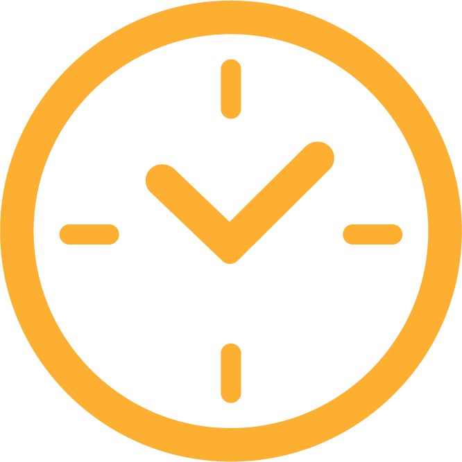 An icon created by one of our team members of a clock to represent response time.