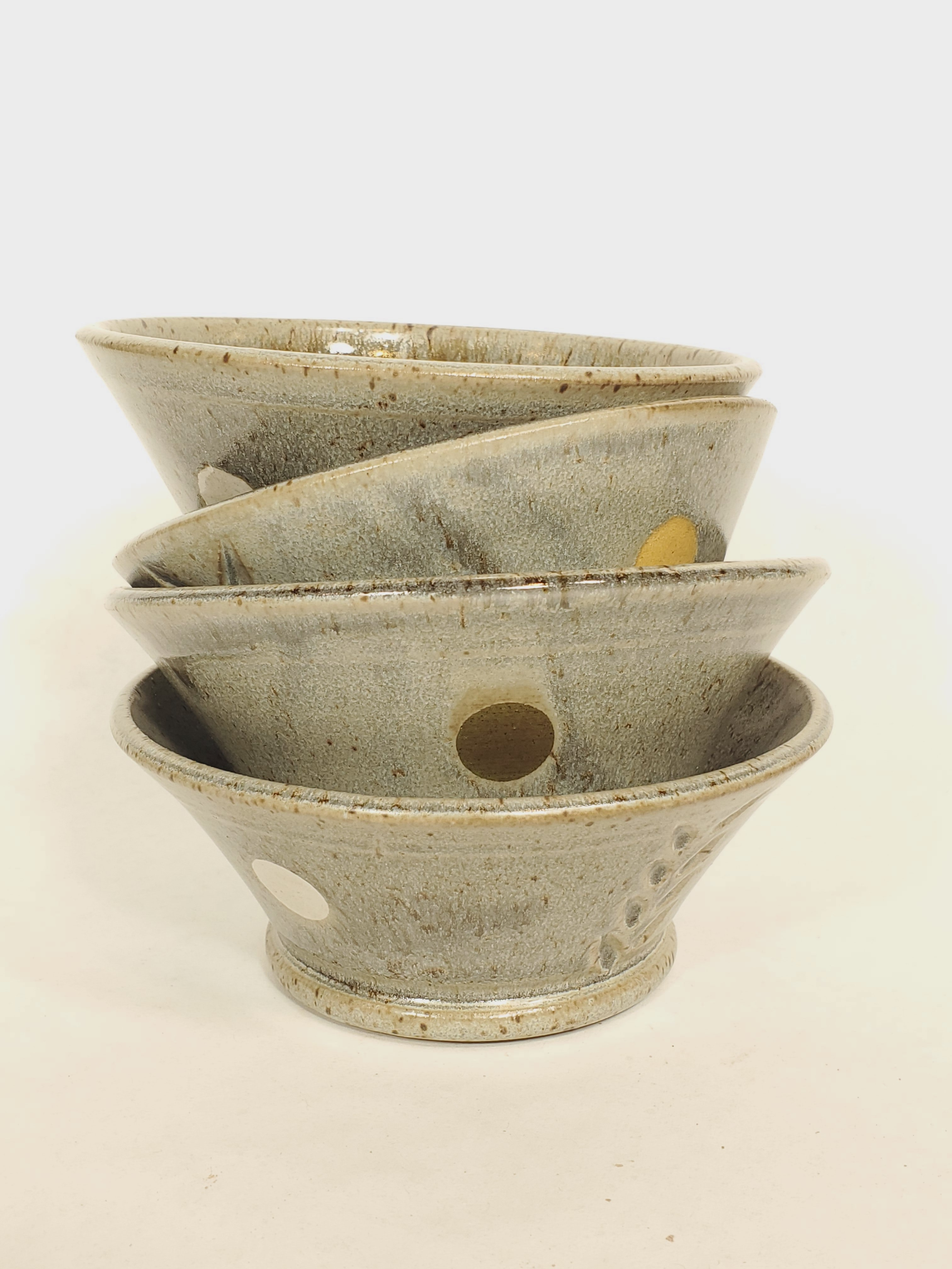 Dessert Bowls, grey, set of four