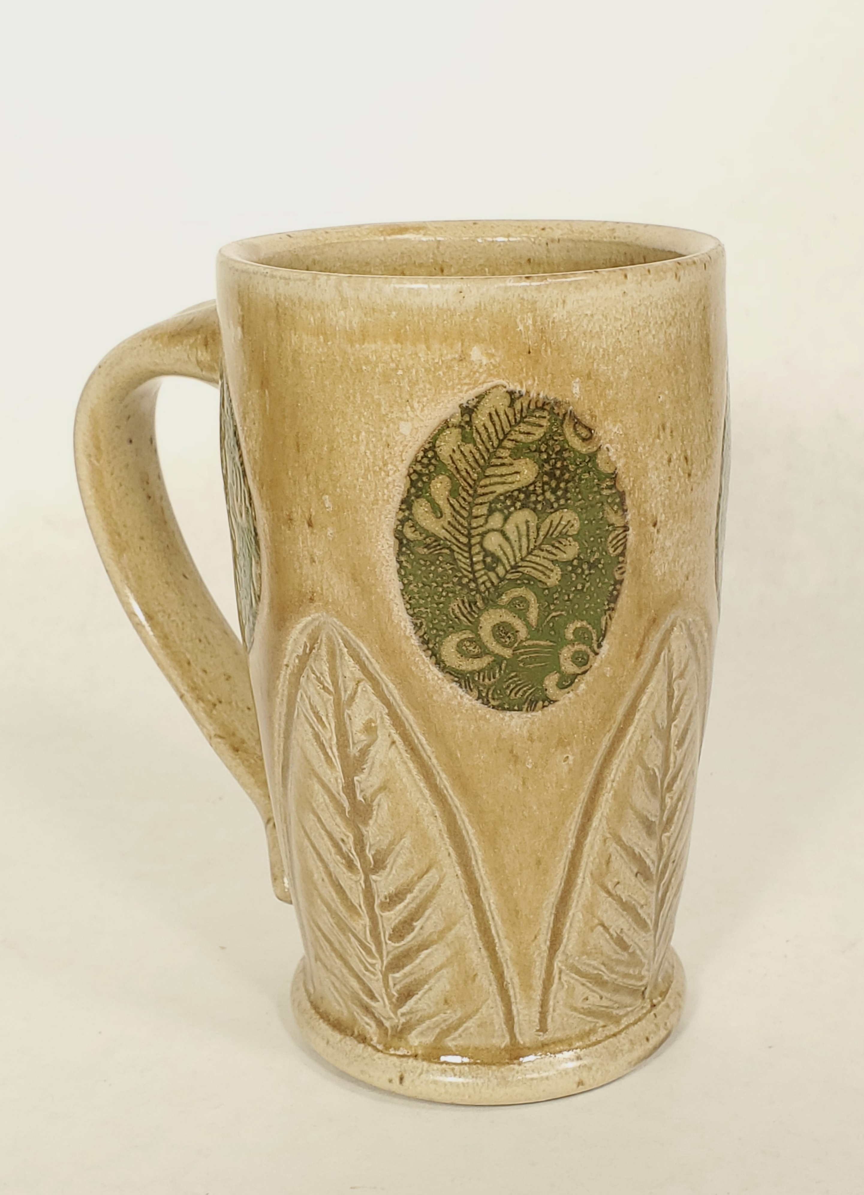 Tall tan Mug