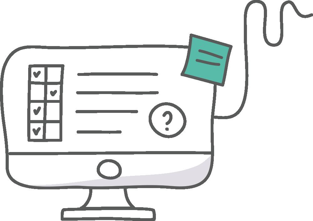 Computer screen depicting education