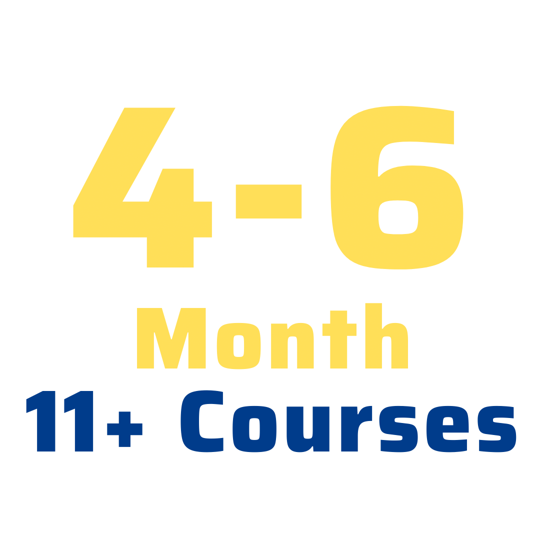 4-6 month 11+ courses