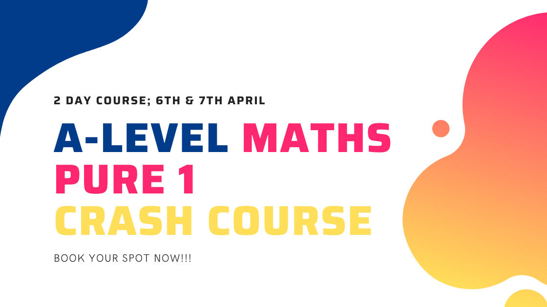 Over the 2 day course of this crash course, we will recap all of the key material covered in the first year of pure A-Level Maths.