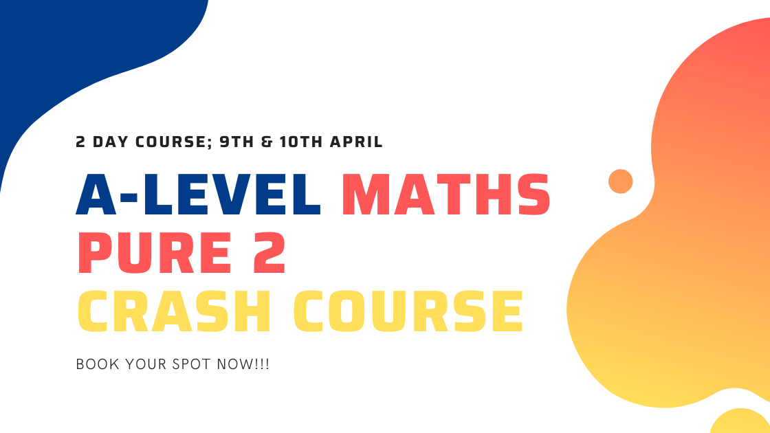 Over the 2 day course of this crash course we will recap all of the key material covered in the second year of pure A Level Maths.