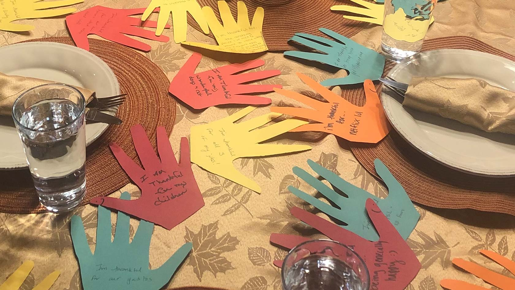 Thankful hands