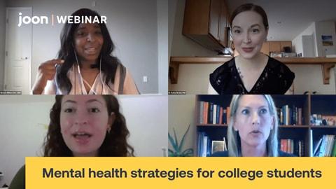 Webinar: Mental Health Strategies for College Students