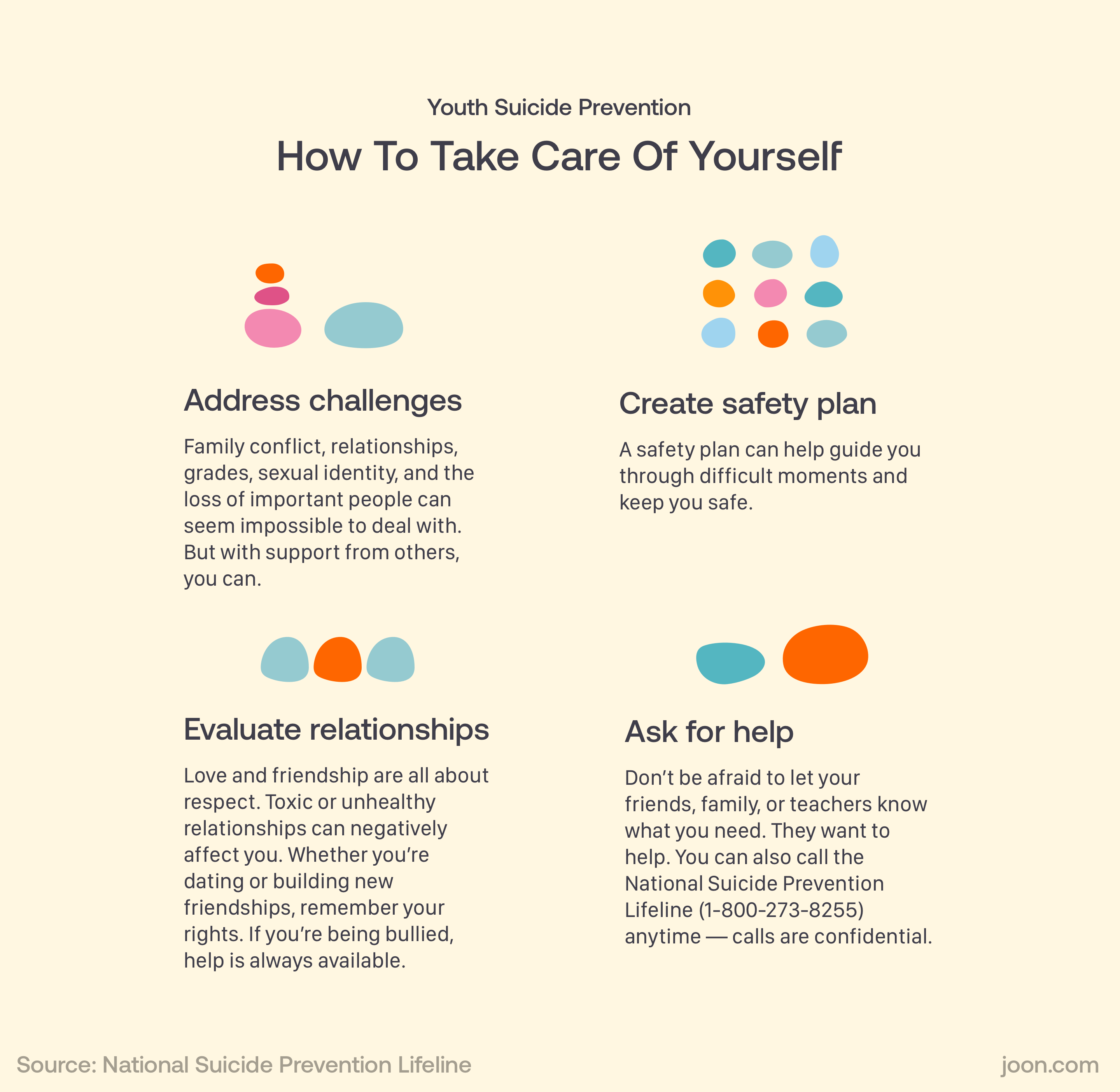 Youth Suicide Prevention. How teens can take care of their own mental health.