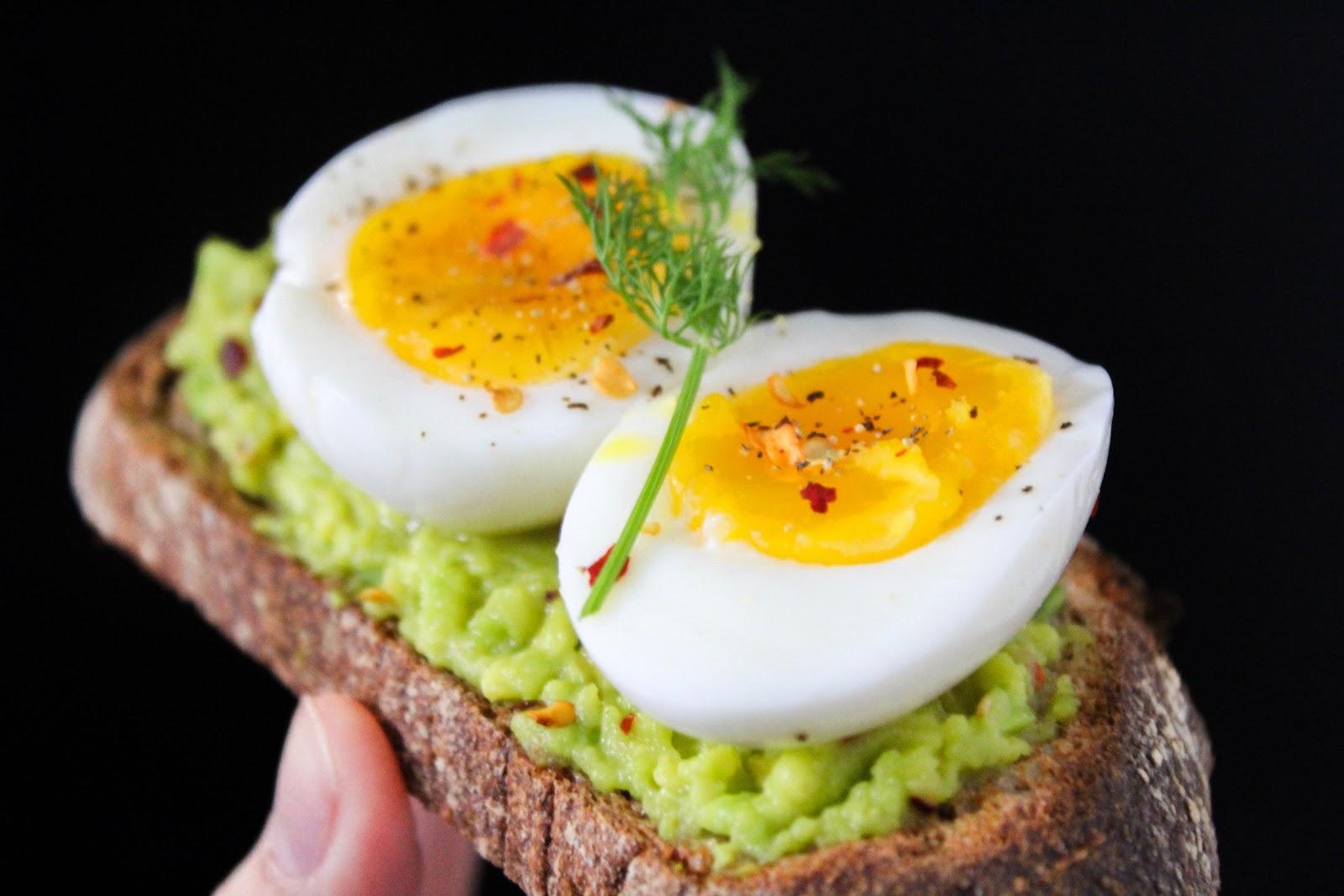 medium boiled eggs on avocado toast