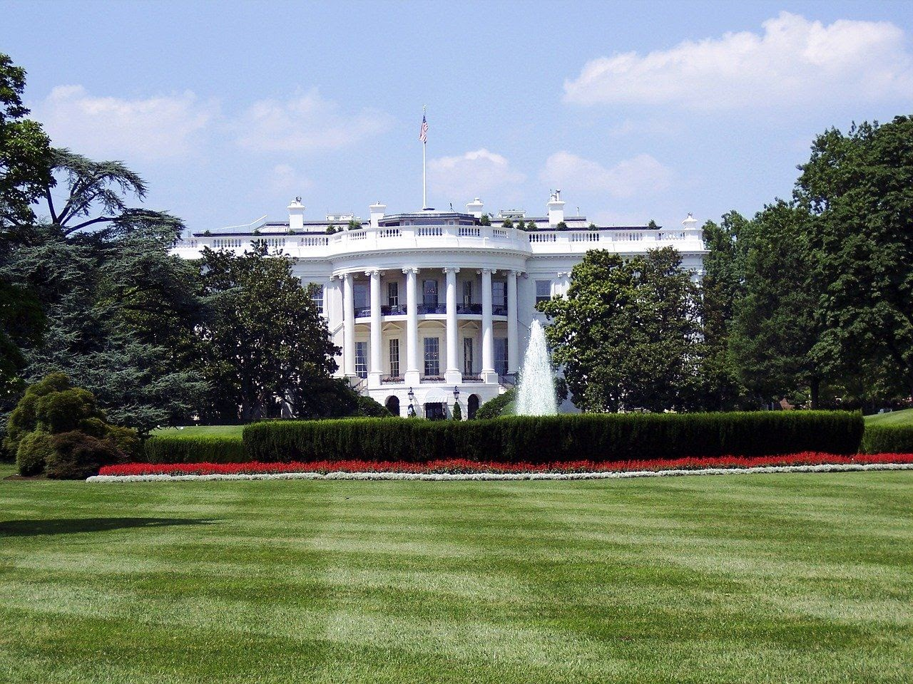 The White House in America's political capital, Washington DC.