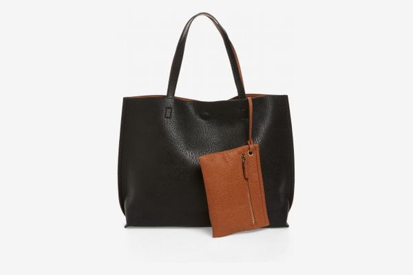 Black purse and brown wristlet