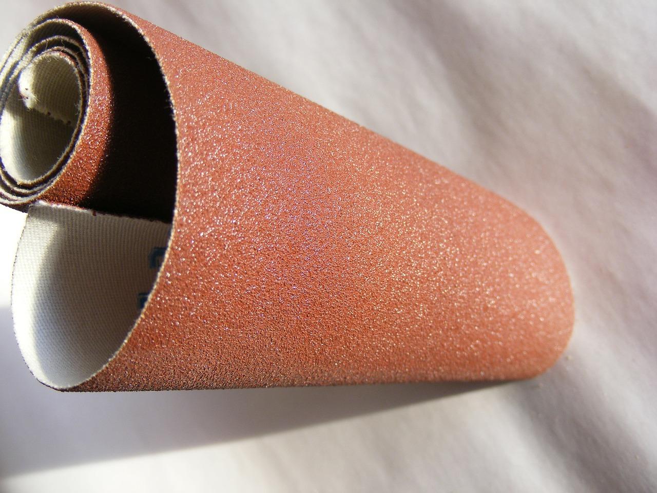 A roll of sandpaper