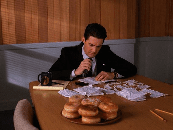 "Still image of character Dale Cooper from ""Twin Peaks"""